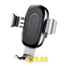 Baseus #Car #Holder #Qi #Wireless #Fast #Charger #Pad #- #PLATINUM