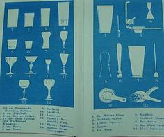 Vintage Cocktail Drinks from the 1950's #illustration #cocktail #vintage #stemware