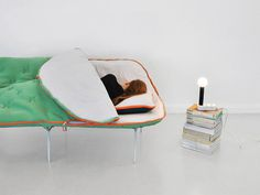 Camp Furniture by Stephanie Hornig #lamp #sofa #bed