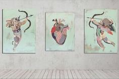 """""""love.me"""" Triptych (2018) www.KyleMosher.com"""