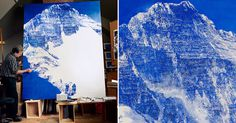 Ultramarine Blue Paintings by Mark Tansey