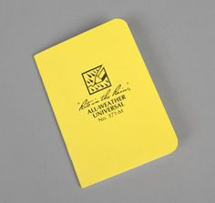 #371 M ALL WEATHER MINI STAPLED NOTEBOOK :: HICKOREE'S HARD GOODS