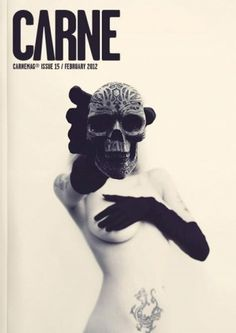 Carne Magazine Cover #cover #photography #carne #skull #magazine