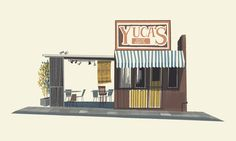 Chris Turnham - Yuca's #chris #shop #turnham #illustration #building #hand