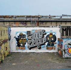 Pest, MR Fixit, Bue , Smithe @ Nijmegen (Holland) #graffiti #street art #mural #wall art
