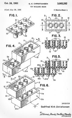 Mrs. Easton » Blog Archive » Lego Love #drawing #lego #figure #patent