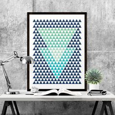 Triangle abstract art. #iloveprintable