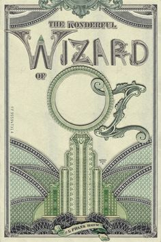 Re Covered Books: The Wonderful Wizard of OZ The runners up #typography #money #oz
