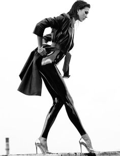 Karlie Kloss Topless by Greg Kadel for Numero 05 #white #black #women #photography #and #fashion