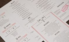 Design Thinking #typography #menu