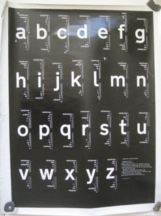 Railway Alphabet by Kinneir and Calvert | Quad Royal #poster #typography
