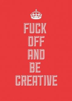 Lucas Jubb. Creative. Quote. Off. Red. Type. Lettering. Ideas #illustration #typography #british #royal #keep calm #lucas jubb