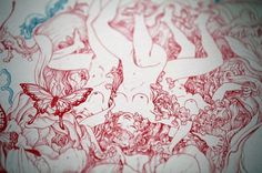 James Jean | Reclamare #ink #pattern #floral #art
