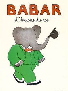Babar! #illustration #books #vintage