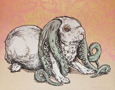 Laughing Squid #illustration #bunny #squid