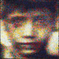 Amazing Portraits Made Out Of Crayons #crayons #portrait #art #crayon #epic