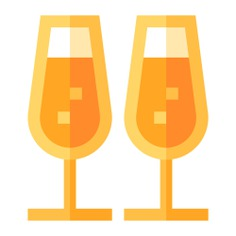See more icon inspiration related to drink, champagne glasses, birthday and party, food and restaurant, champagne glass, alcoholic drink, celebration, alcoholic, cheers, glasses, alcohol, champagne, toast, party and drinks on Flaticon.