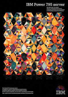 IBM - Pattern - RAWZ #design #art #geometry #pattern #ibm