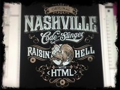 Dribbble - Nashville Code Slinger by Derrick Castle #type #illustration #art