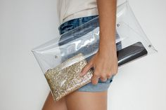 diy transparent clutch 2 (1) #transparent #diy #plastic #clutch
