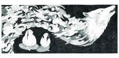 Melissa Castrillon : Two wolves #wolves #illustration #castrillon #melissa
