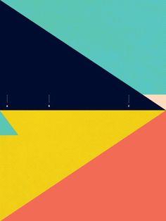 SECRET SURF MAP 1 Korbel Bowers #graphic #minimal