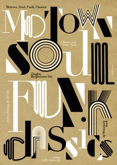 type-lover:nnMotown soul funk classicsby Götz Gramlichn #grid #poster #typo #gridsystem #typography