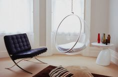 The Bubble Chair eliminates outside noise to create a peaceful environment. It is comfort and silence in a bubble of your own! #modern #design #home #product #furniture #industrial #style