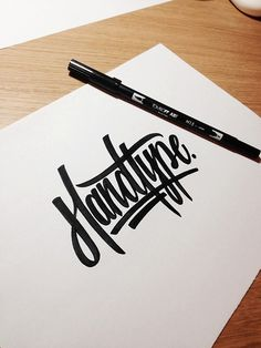 Typeverything.com Lettering by Andy Lethbridge. #marker #handwriting #handtype #type #bw