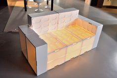 EPS LIGHT SOFA #sofa #events #fish #interiors #boxes #recycling #light