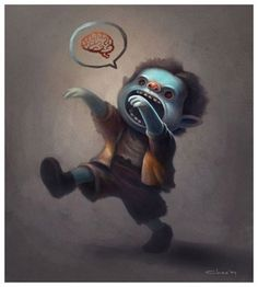 FFFFOUND! | Braainnn.... by Chao - Charles Santoso - CGHUB #cute #zombie #hungry