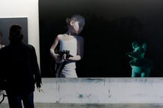 Gottfried Helnwein | WORKS | Mixed Media on Canvas | Helnwein working on #canvas #painting #art #installation