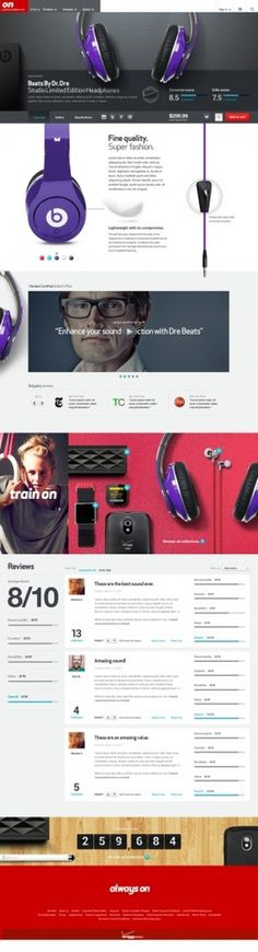 Concept Site Headphones #headphone #training #web #webdesign #colour