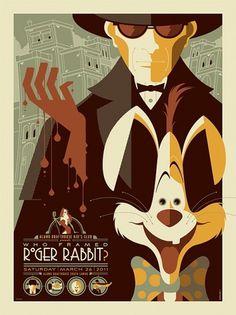 Roger Rabbit Vintage Poster #poster
