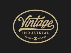 Vintage Industrial #vintage #type #logo #badge