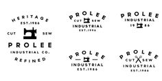 Jorgen Grotdal #typography #logo #sewing machine #jorgen grotdal #prolee industrial