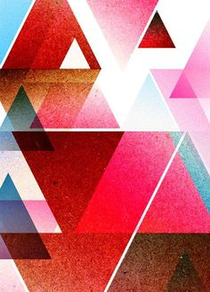 NAF, Not Another Folio #pink #design #graphic #illustration #triangle #blue #colour