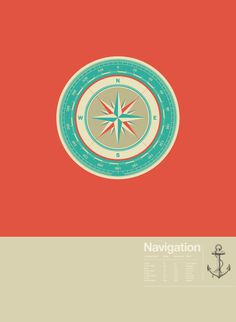 Navigation, by Astronaut Design #graphic design #design #creative #poster #orange #inspiration #navigation
