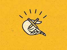 pencil, hand, logo