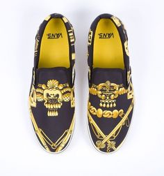 All sizes | Custom Vans - Vintage Hermes Scarves | Flickr - Photo Sharing! #shoes #hrmes #vans #gold #custom