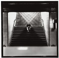 Gerhard Richter crossing of light by Lothar Wolleh #lothar #steps #wolleh #gerhard #richter #shadow