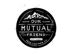 our mutual friend #hand #label #crest #drawn #mountains #sketch