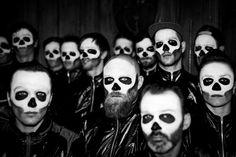GhostRiders - CReel #ghost #white #b&w #black #riders #portrait #skulls #and