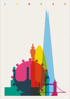1888 #poster #screen print #yoni alter #shapes #of #the #cities #dan mather