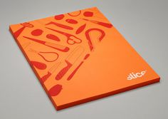 Graphic design inspiration #creative #print #orange #slice #brochure