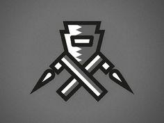Dribbble - Keystone Welding by Michael Spitz #line #mask #fire #contrast #logo #ironworkers
