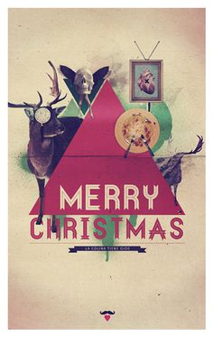Merry Christmas #print #design #christmas #collage