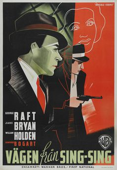 20 Swedish Posters for 1930s Hollywood 50 Watts #illustration #vintage #poster #film #movie #hand lettering