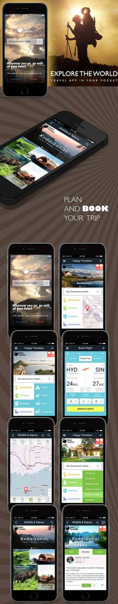 Concept Design For Travel App by Rajendra ray