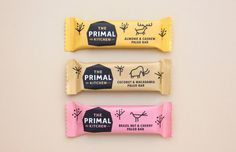 Established 2 million years B.C. (Before Cereals), The Primal Kitchen are a new health food brand based upon the caveman diet. Launching wit #packaging #primal #chocolate #snake
